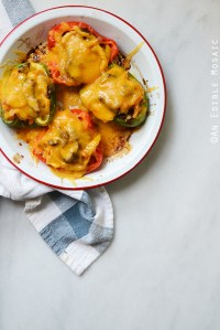 Easy Cheesesteak Stuffed Peppers {Gluten-Free}