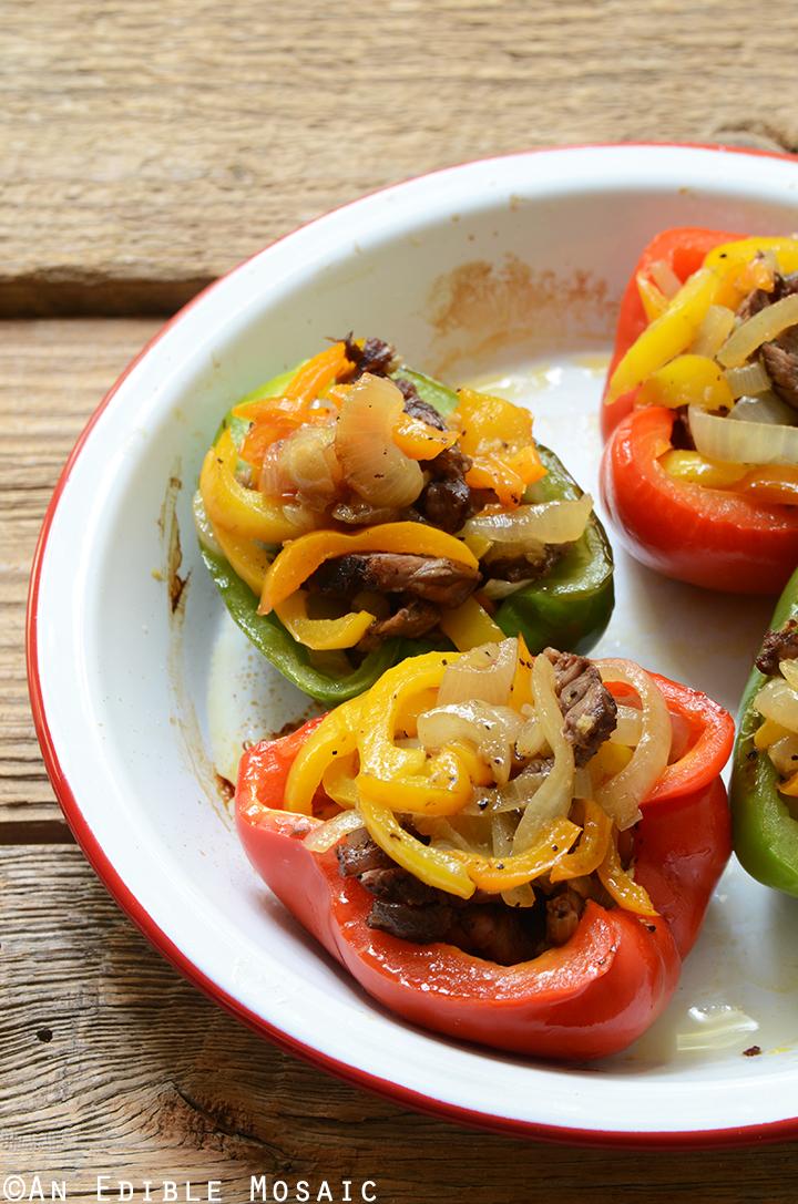 Easy Cheesesteak Stuffed Peppers {Gluten-Free} 3