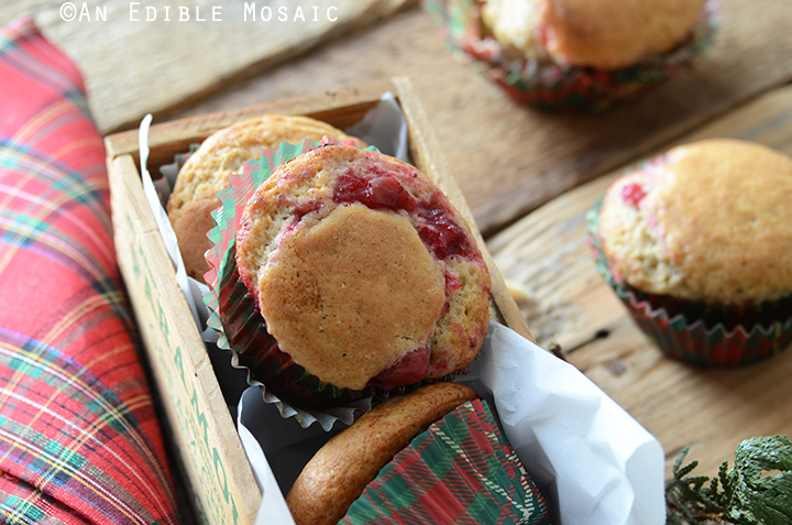 Eggnog Muffins with Cranberry Filling 4