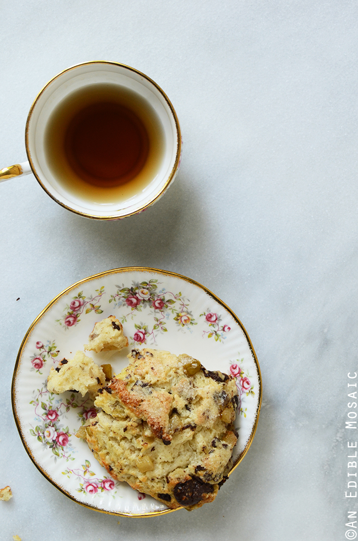 Vanilla Bean Caramelized Pear Scones with Dark Chocolate Chunks 2
