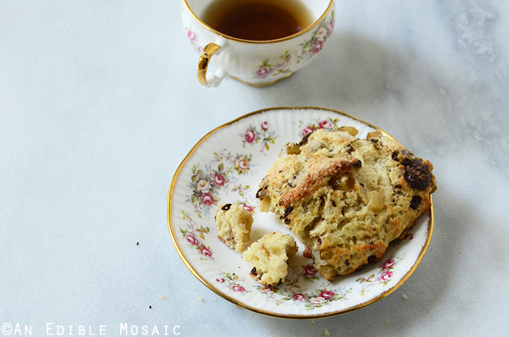 Vanilla Bean Caramelized Pear Scones with Dark Chocolate Chunks 3