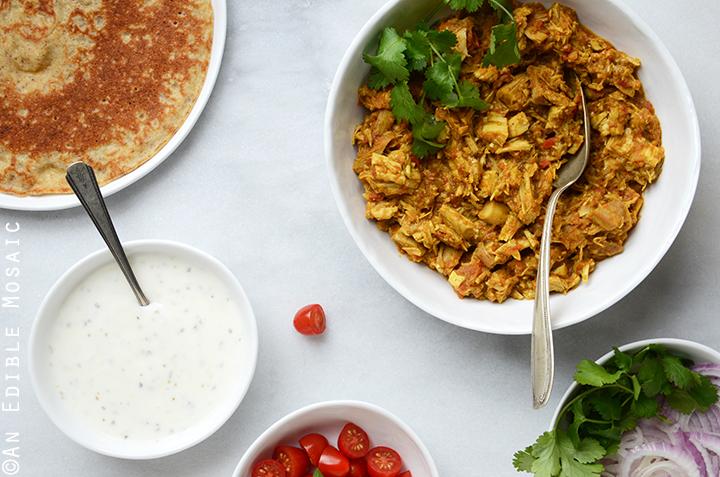 Easy Turkey or Chicken Masala Wraps 4