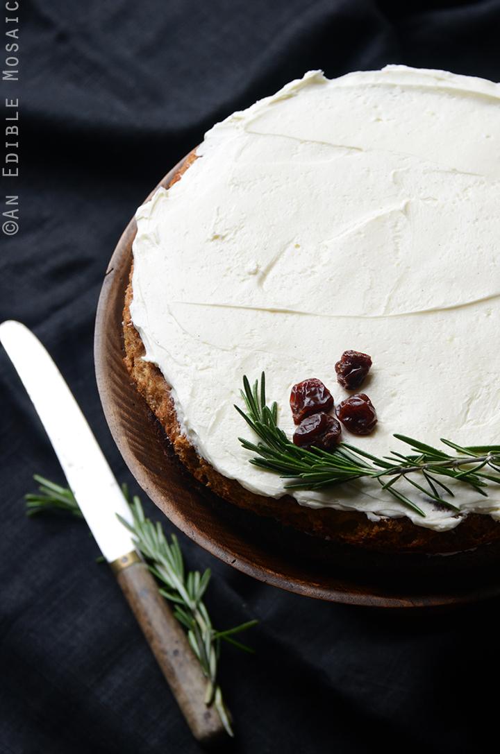 Gluten-Free Cherry Almond Cake with Rosemary Vanilla Bean Buttercream 2