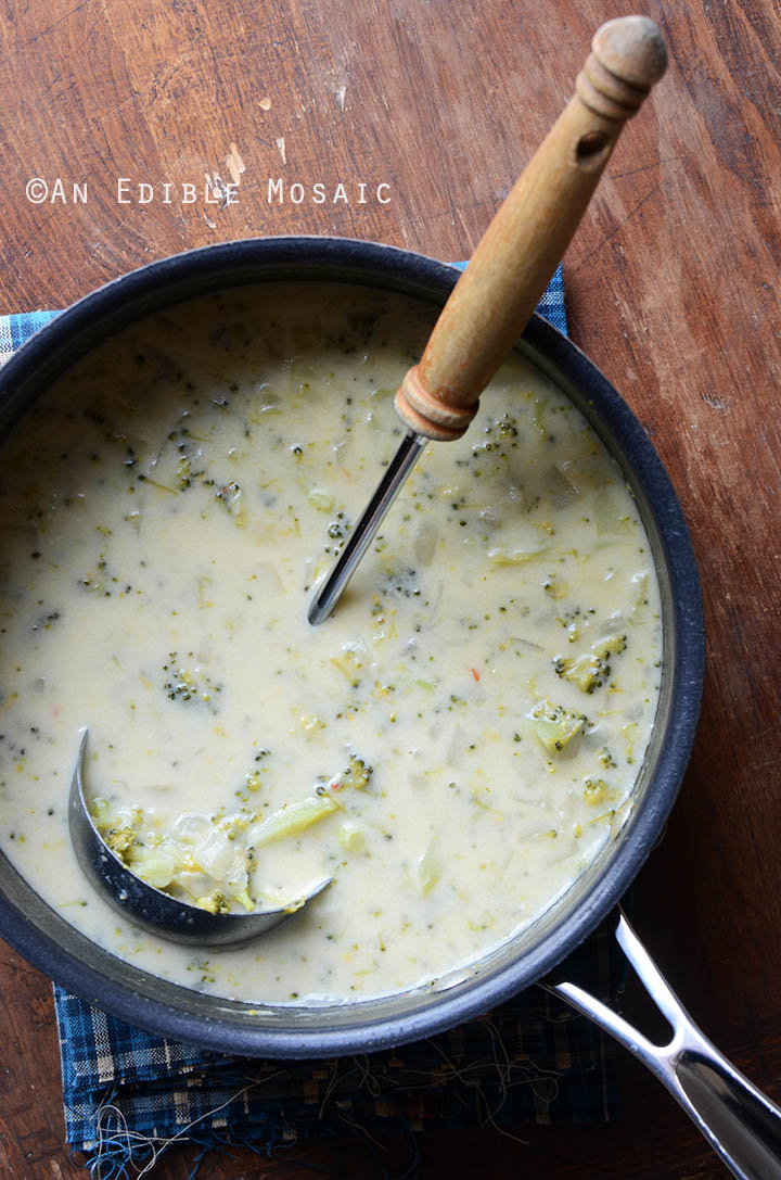 Broccoli Cheddar Soup {Gluten-Free; Lactose-Free} 2