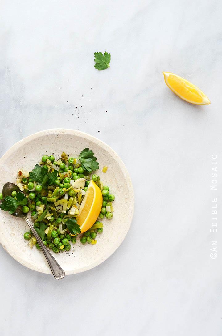 Sautéed Leeks with Sweet Green Peas, Sumac, and Honey 3