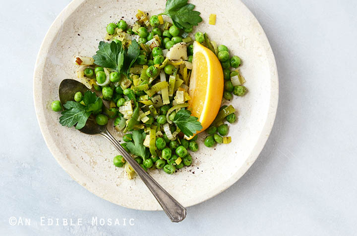 Sautéed Leeks with Sweet Green Peas, Sumac, and Honey 5