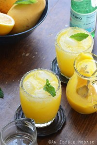 Mango Meyer Lemon Margarita Mocktails