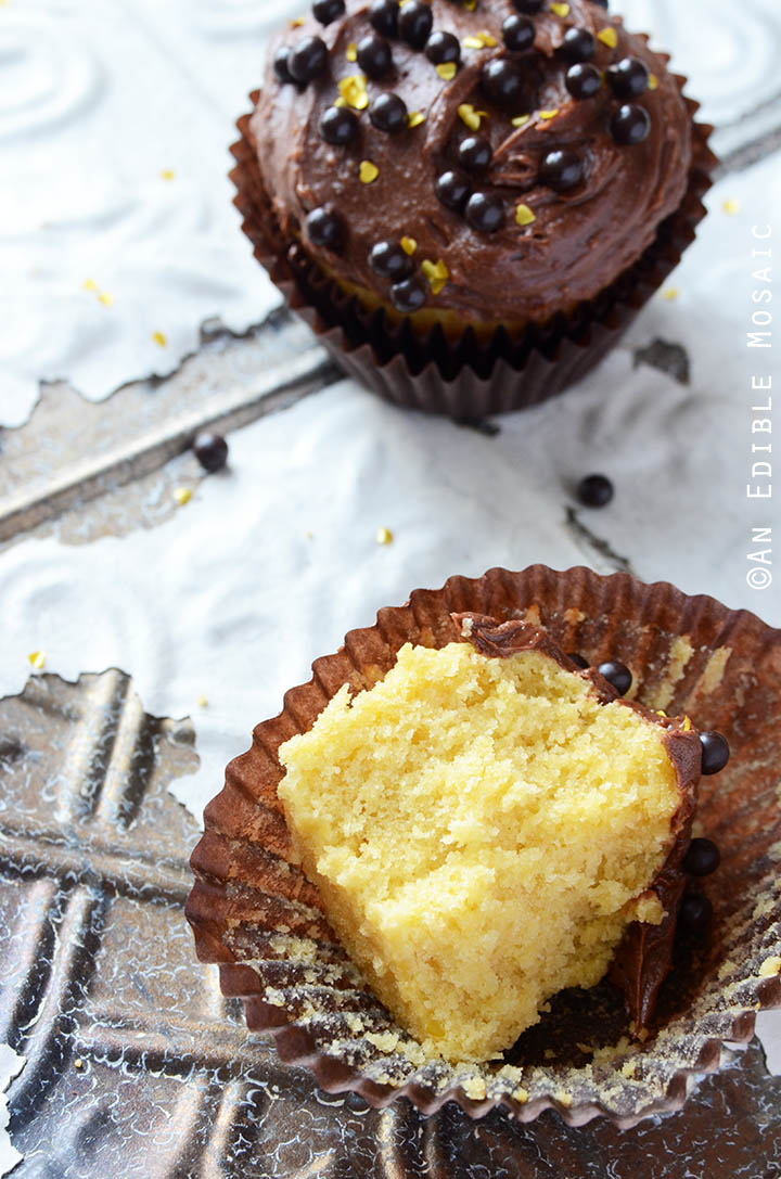 Yellow Cake Cupcakes with Fudgy Chocolate Buttercream for Two 4