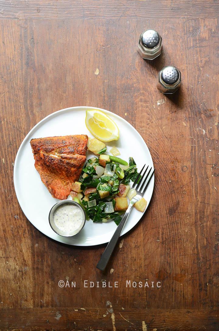 Seared Salmon and Lemon Aioli 1