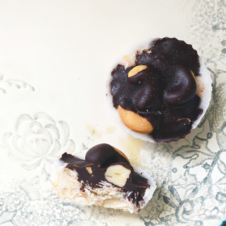 Salted Coconut Cashew and Chocolate Bites
