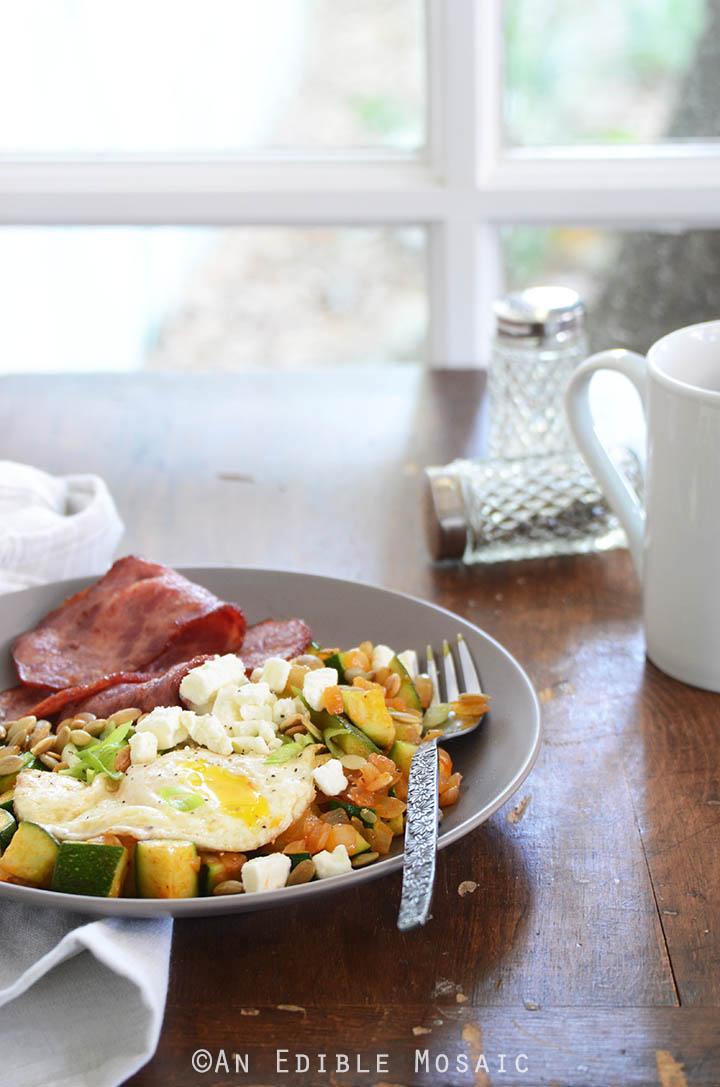 Smoked Paprika Zucchini Hash Breakfast Bowls 4