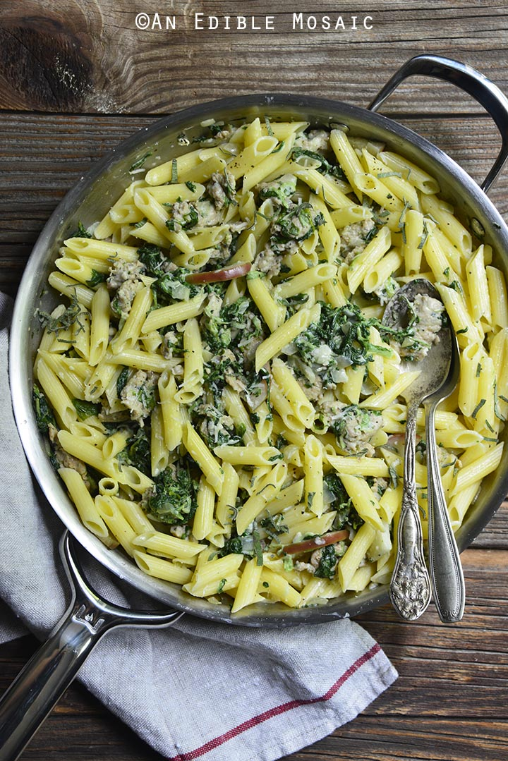 gluten-free-penne-pasta-with-chicken-sausage-sage-and-apple-cream-sauce-3