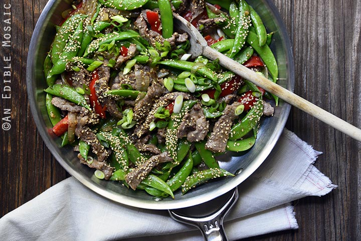30-minute-sesame-beef-and-snap-pea-stir-fry-skillet-supper-paleo-3