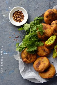 Mustard or Garlic-Spiked Crispy Potato Cakes {Cookbook Giveaway}