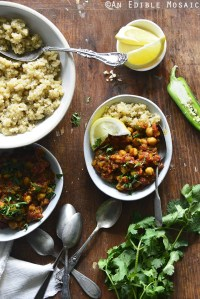 Indian-Spiced Chickpea Curry (Chana Masala) {Lagostina 5-Quart Casserole Giveaway}