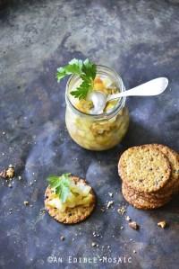 Glass Jar of Easy Apple Jalapeno Relish