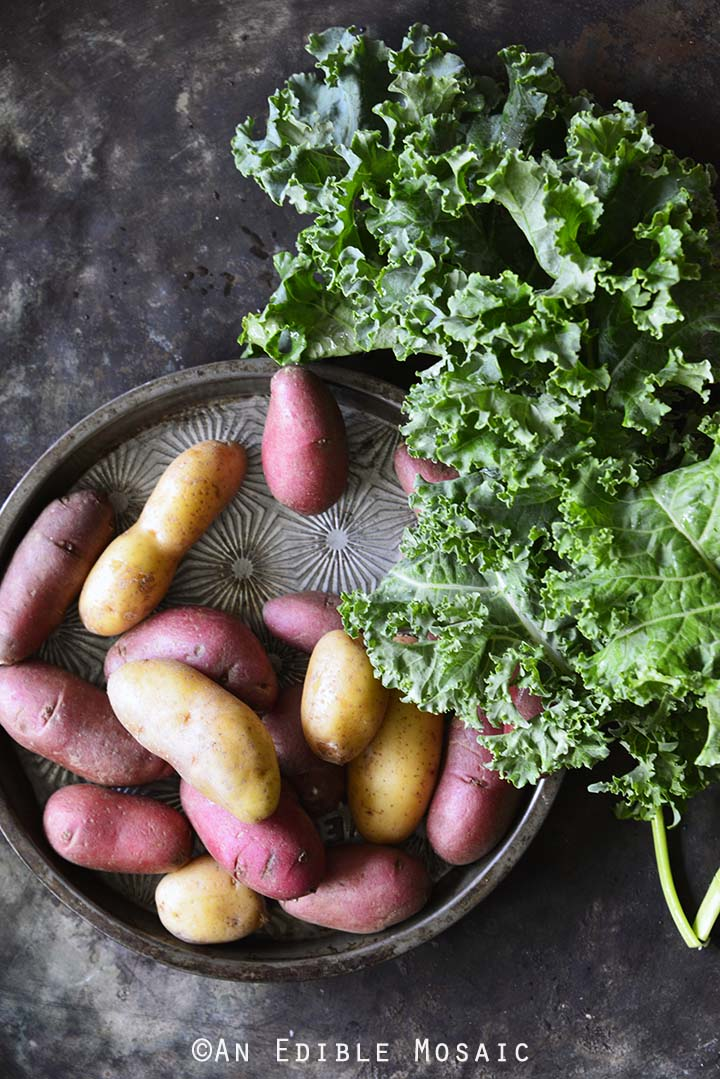 Fingerling Potatoes and Kale