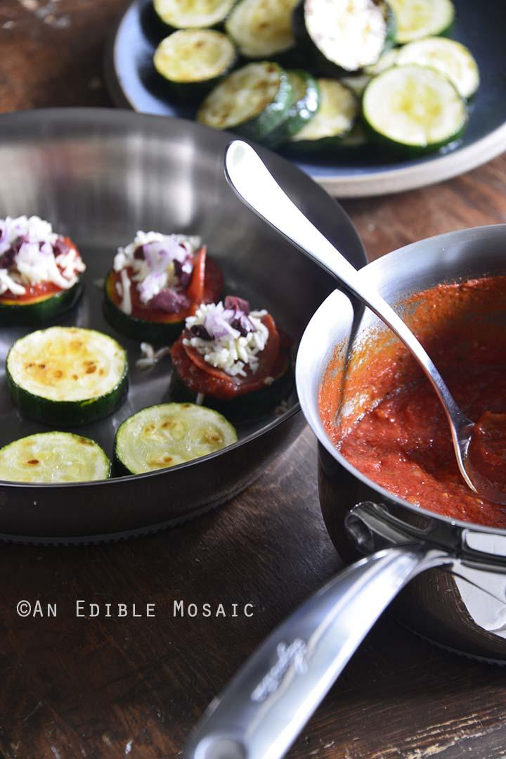 Zucchini Bites Prep Front View