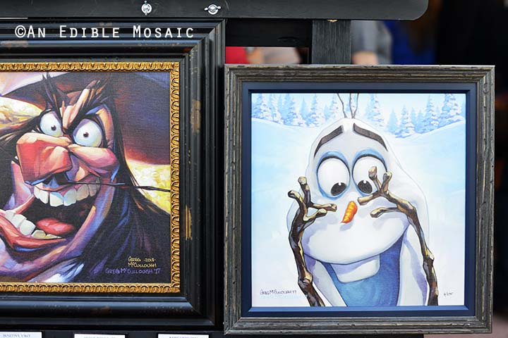 Disney Olaf and Captain Hook Paintings