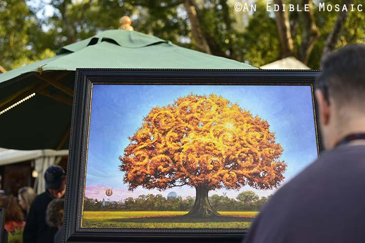 Golden Tree Painting