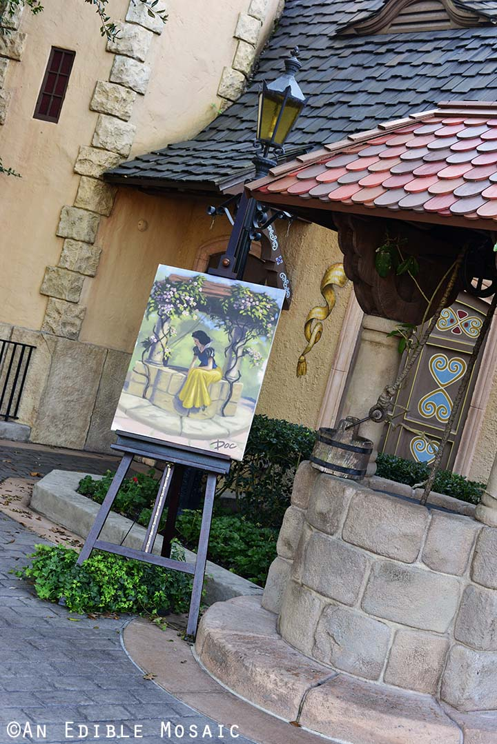 Snow White Painting at Wishing Well