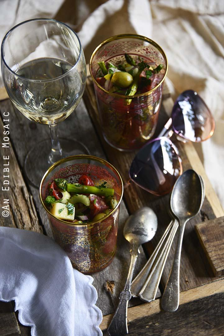 Roasted Asparagus Antipasta Salad Picnic Spread