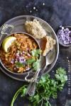Overhead View of Instant Pot Cauliflower Pav Bhaji (Low Carb Indian Food)