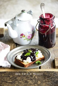 Small Batch Easy Blueberry Jam with Ginger and Lemon
