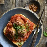 Easy Meatball Bomber Recipe on Wooden Table