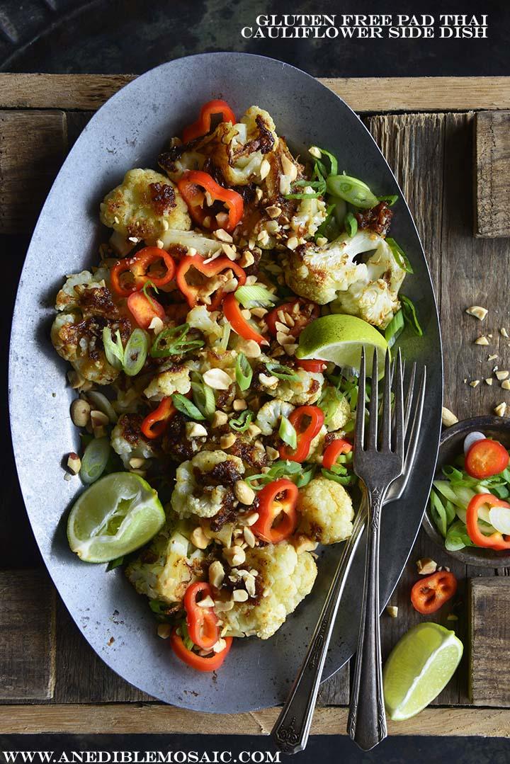 Gluten Free Pad Thai Cauliflower Side Dish with Description