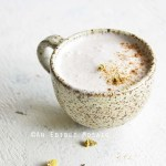 Spiced Chamomile Tea Latte Recipe Front View