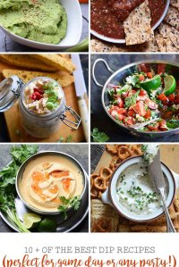 10+ of the Best Dip Recipes Perfect for Game Day or Any Party Collage