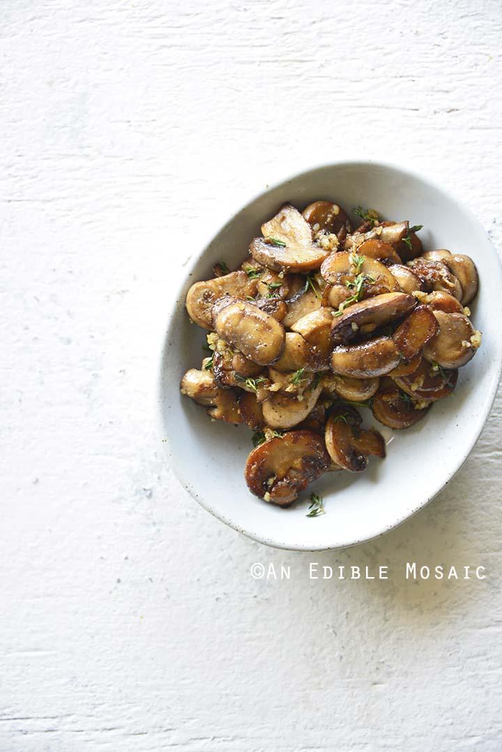 Mushroom Filling on White Table