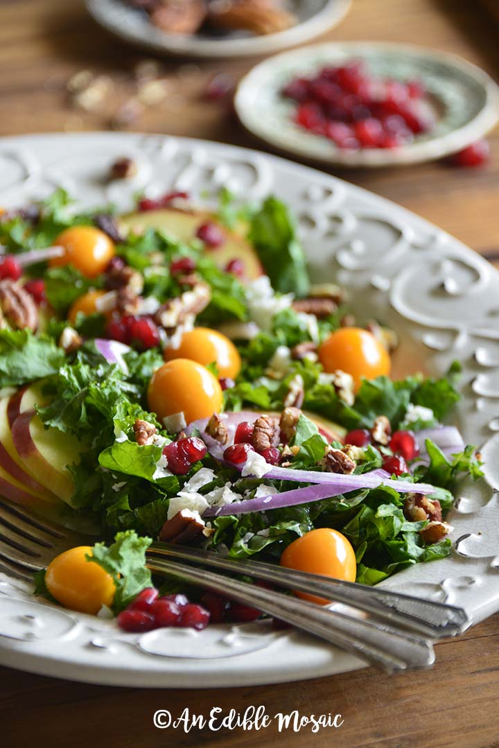Festive Christmas Salad Recipe All Decked Out In Red And Green