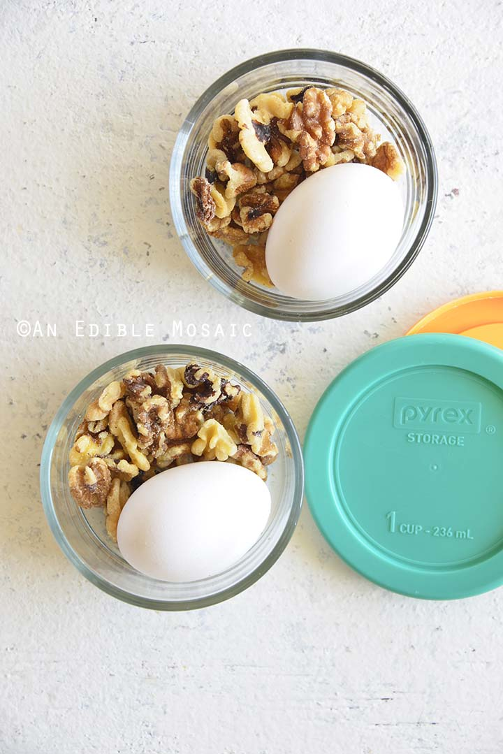 Snack Prep in Glass Containers