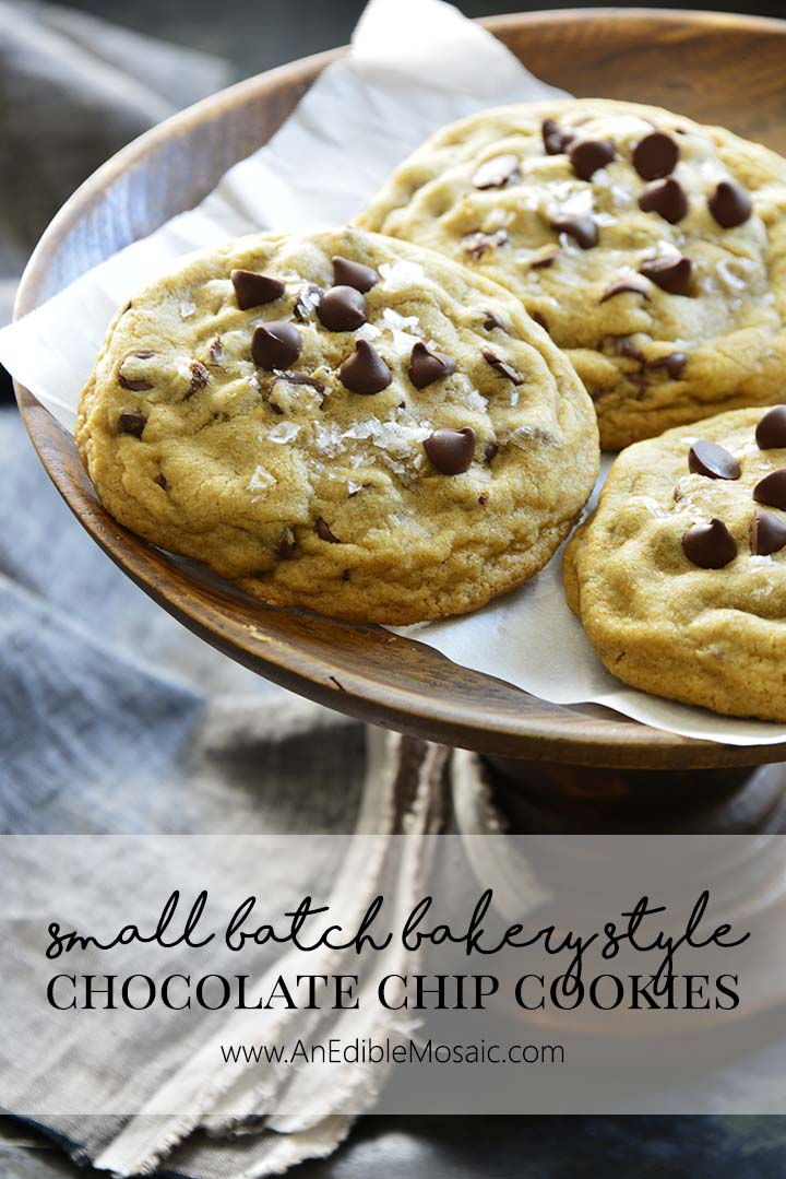 Small Batch Bakery Style Chocolate Chip Cookies Pin