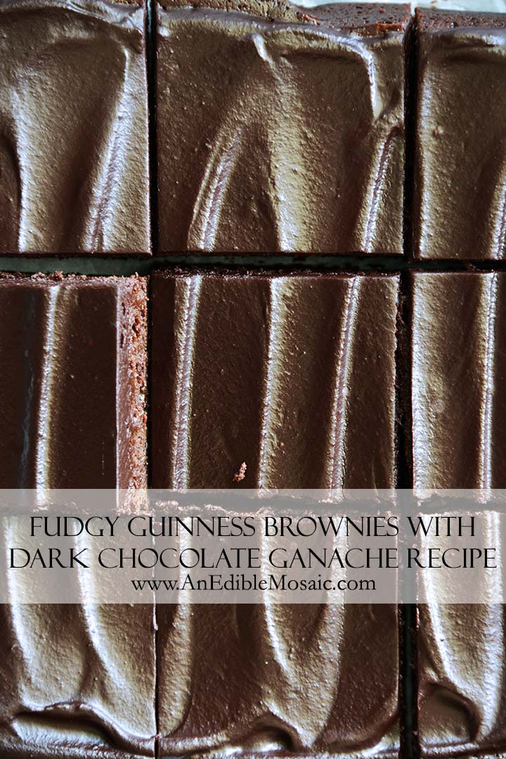 Fudgy Guinness Brownies with Dark Chocolate Ganache Recipe Pin