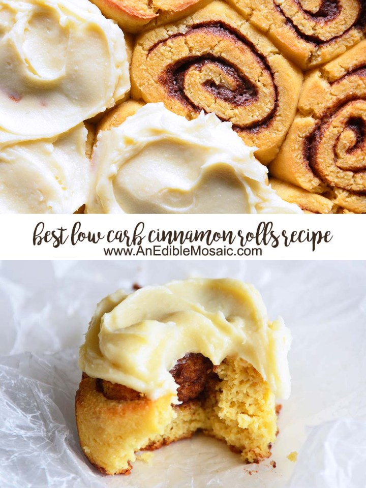 Best Low Carb Cinnamon Rolls Recipe Pinnable Image with Description
