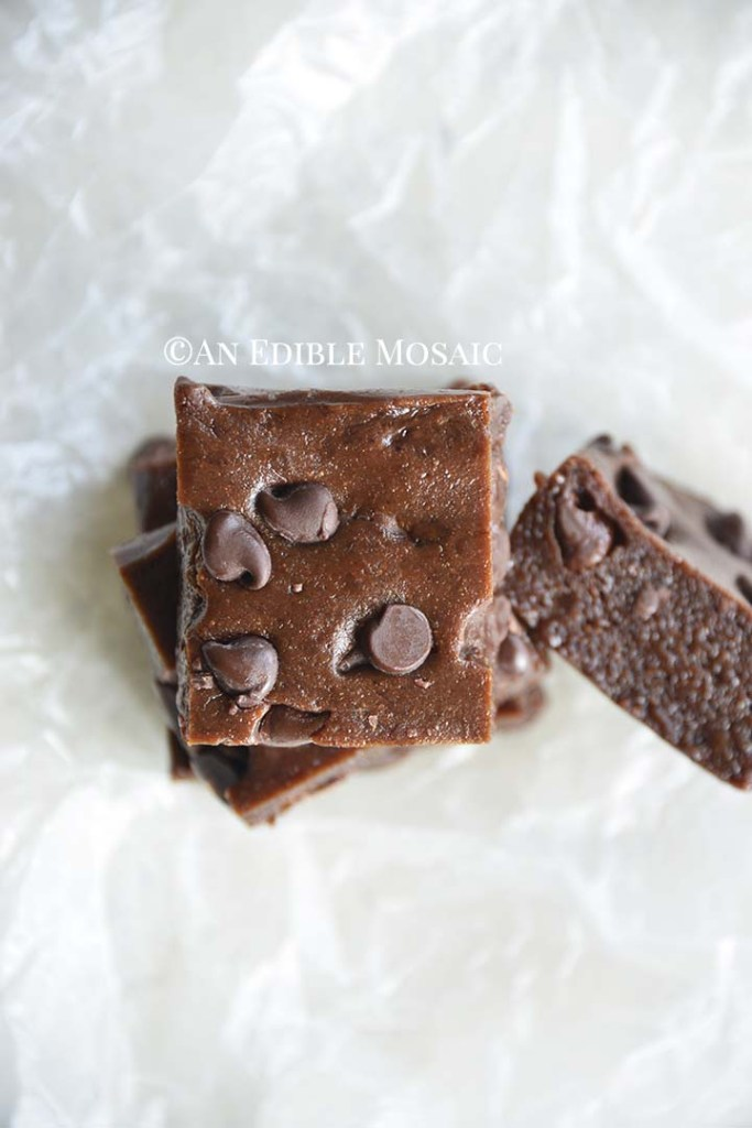 Overhead View of Fudgy Double Chocolate Protein Bars