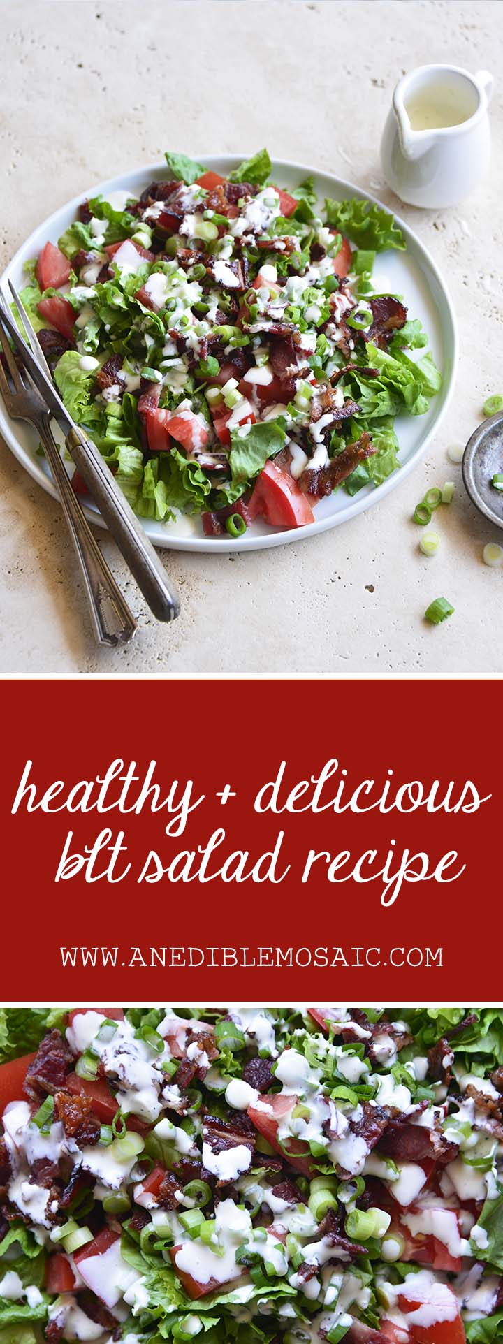 Healthy and Delicious BLT Salad Recipe Pin