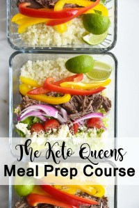 3 Meal Prepped Taco Salad Bowls with The Keto Queens Meal Prep Course