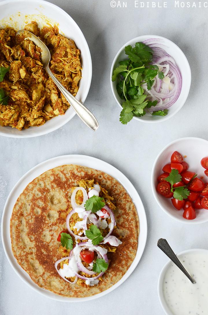 Making Easy Turkey or Chicken Masala Wraps