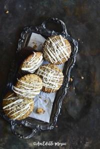 Orange Chocolate Cupcakes on Decorative Dark Metal Tray