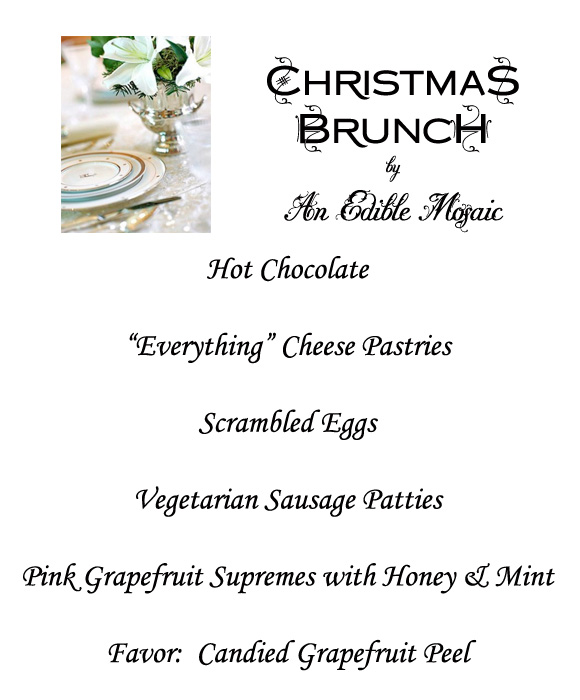 christmas brunch menu