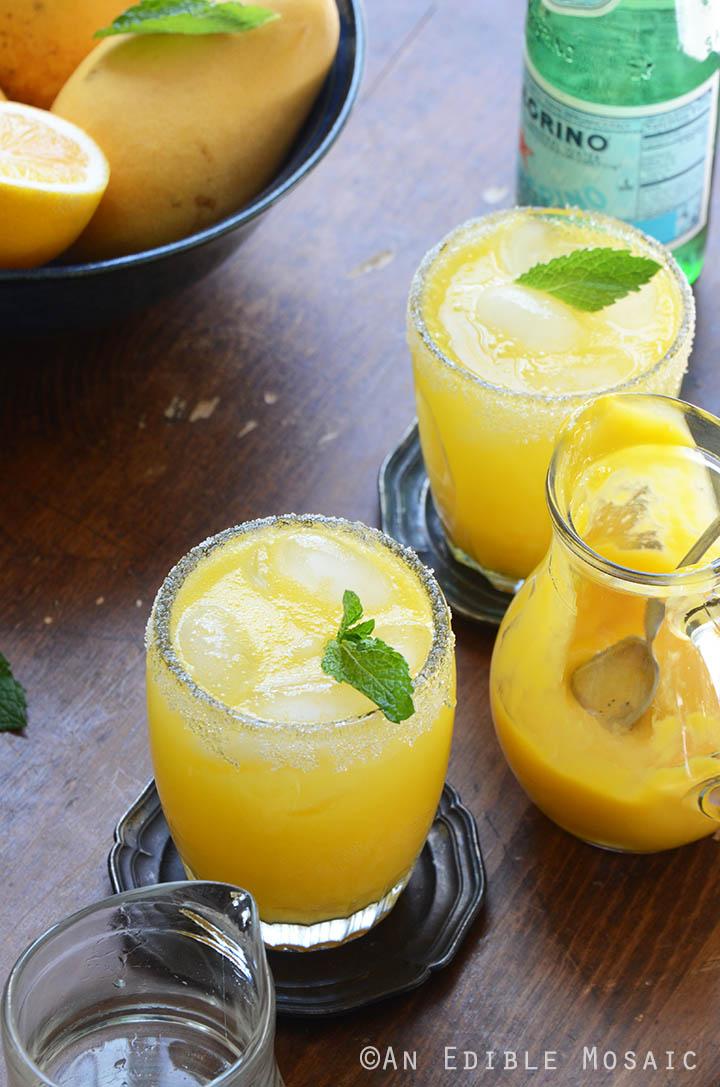 Mango Meyer Lemon Margarita Mocktails Recipe
