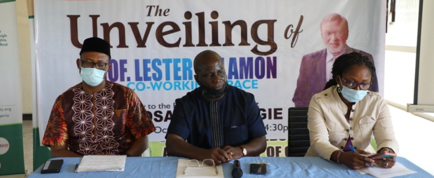 Edo SSG, Osariodion Ogie Urges ANEEJ to continue Service to humanity, honours Prof.Lester Salamon