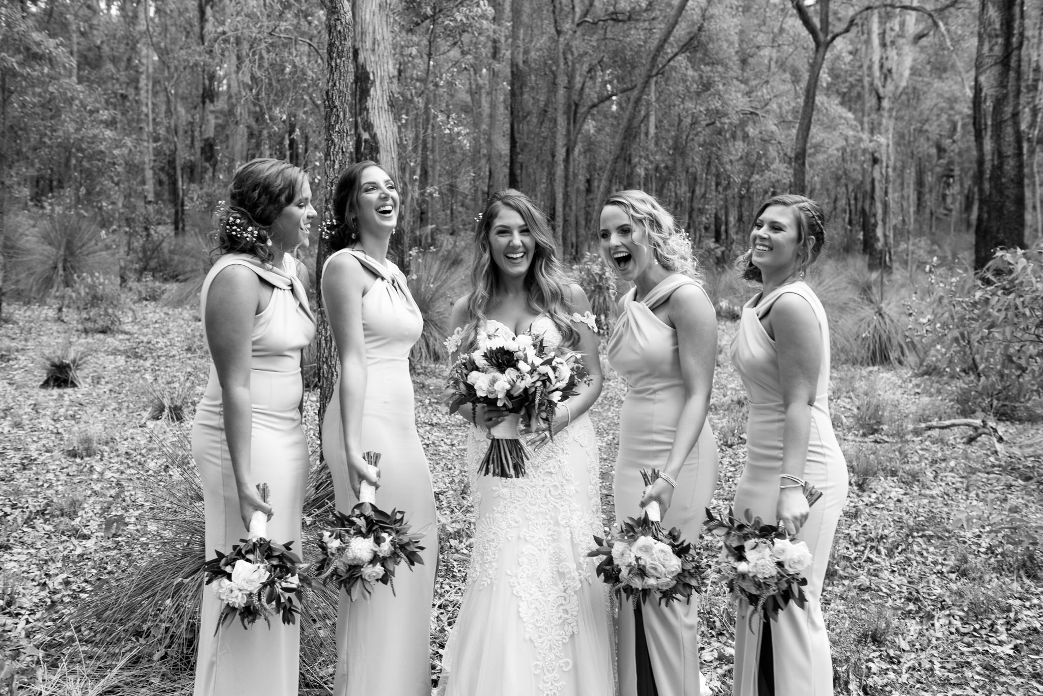 Bride and her squad