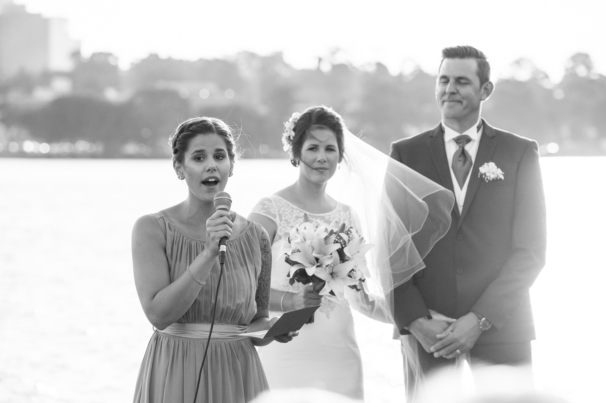 sister of the bride singing