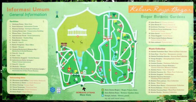 Peta Kebun Raya Bogor
