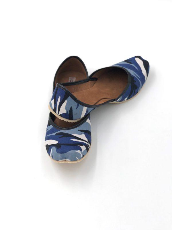 Blue Camouflage Punjabi Jutti & Ballerina